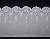 Reserved for Lynda VINTAGE Cotton  Eyelet Trim With Filet Crochet Scallop Edge