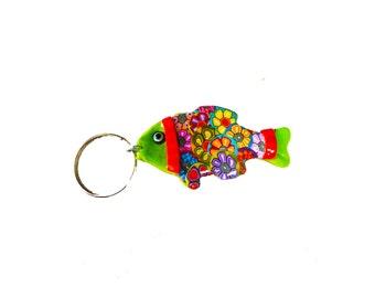 Fish key chain, keychain, key holder, unique key chain, bag decorate, key chain for woman, cute key chain, fish keychain, fish decor, Fish