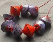 artisan lampwork, handmade  -   Powerred with Purple MTO - by Calisto