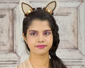 Lolita Cat Ears, Cat Ears, Nekomimi, Autumn, Fall Colors, Costume Cat Ears, Cat Costume, Mori Kei, Lolita, Sweet Lolita, Cat Headband