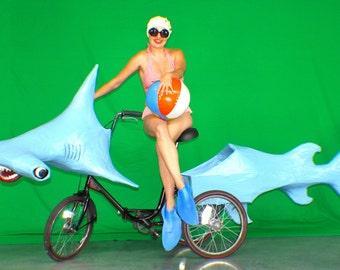 Hammerhead Shark Art Bike Parade Float