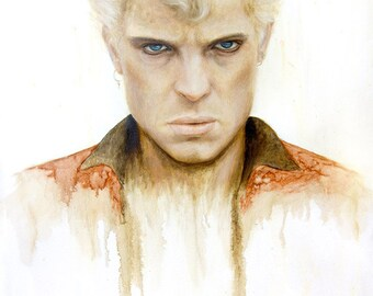"""ORIGINAL Billy Idol painting, 24x36"""", oil on canvas"""