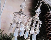 Ice Palace - Frosted Iridescent Jhumka Inspired Chandelier Earrings