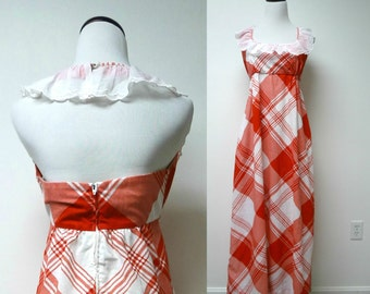 """Periphery by Arthur Williams . backless red and white dress . size 12 . bust 32"""""""