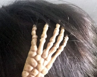 Skeleton Hand Hair Clip Creepy Halloween