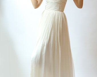 Alice- Silk Chiffon Wedding Gown--Sample sale--Size 8