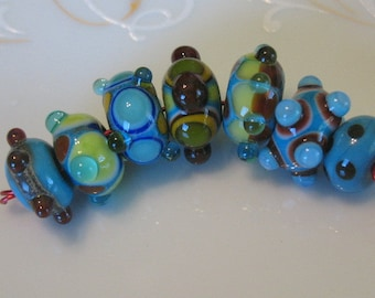 Lampwork beads-handmade lampwork-beading supplies-handmade glass beads-SRA beads-loose beads-bead sets-art glass