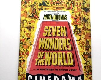 Cinerama Seven Wonders of the World Lowell Thomas Souvenir Program Booklet 1955-56