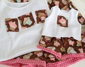 Size 10/12 Doll and Me Matching PJ's for American Girl Doll and Little Girl, Matching Pajamas, Pajama Set