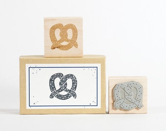 Pretzel Rubber Stamp