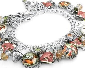 Fox Jewelry, Fox Bracelet, Wild Animal, Animal Jewelry, Vintage Fox Images, Forest Animals