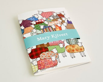 Small Flock of Colourful Sheep Notebook