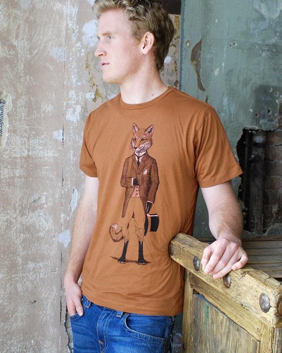 Fox Shirt - Men's Shirt - Gift for Men - Animal Lover Gift - Fox Art - Graphic Tee - Tshirt - Animal in Suit