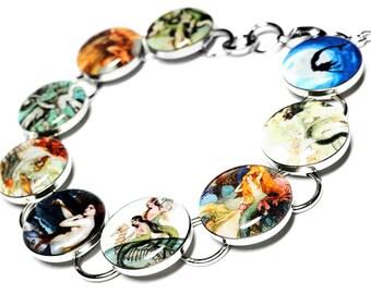 Mermaid Bracelet, Mermaid Jewelry, Resin Bracelet, Siren Jewelry, Handmade Bracelet, Resin Jewelry, Handmade, Vintage Mermaids, Summer