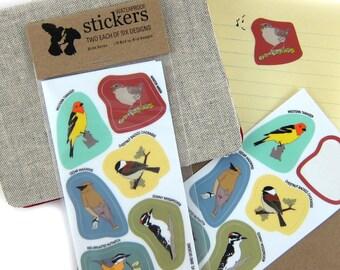 Waterproof Wild Bird Stickers--Woodland Birds--2 Sheets