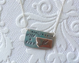 Wild and free dainty montana pendant