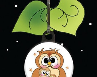 Zipper Charm - Owl & Babe