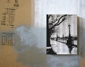 Southbank London Print - London Artwork - Southbank London - River Thames - London Eye - London Art Print