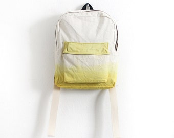 Yellow dyed backpack I