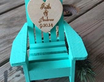 Beach Chair Ornament, Beach wedding favor, beach wedding, ornament