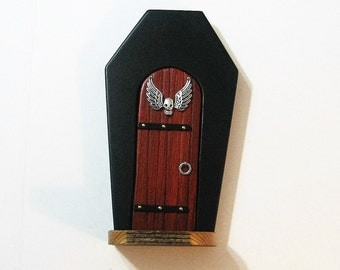 Halloween Fairy Door Made Of Three Woods