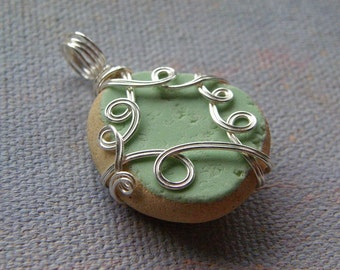 Silver and Seaglass Pendant- Minted