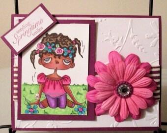 340 Spring Child Digi Stamp
