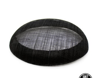Black - Round - Button - Hat Base - Pill Box - Sinamay Straw - Fascinator - Hat Foundation -Hat Form - Millinery