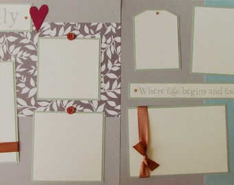 Premade 12x12 Scrapbook Pages Layout -- FAMILY -- Love our life together - family reunion, grandparents, mom and dad, aunts and uncles, kids