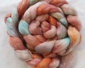 Pleased as Patina on Merino/Tencel Hand dyed roving