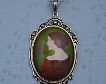 Sale 20% Off // JANE EYRE Necklace - pendant on chain // Coupon Code SALE20