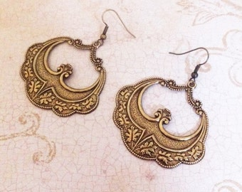 Bohemian Romance Earrings ~ Patina Earrings ~ Vintage Jewelry ~ Bohemian Jewelry ~ Victorian Jewelry ~Edwardian Jewelry ~ Bohemian Earrings
