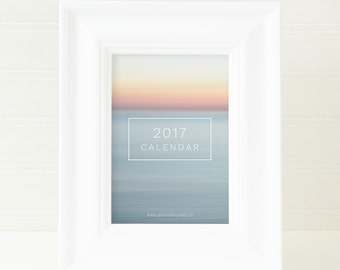 2017 Desk Calendar Photography - 2017 Calendar - Abstract Art Calendars - 5x7 Beach Calendar - Nature Landscape Photo - Coastal Prints