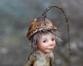 One of a kind miniature artdoll Burli 1:12th by Tatjana Raum dollhouse size