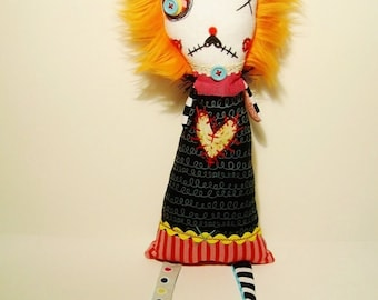 Handmade Art Doll (Monster Moll)
