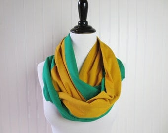 Green Bay Scarf - Packers Scarf - Green and Gold Infinity Scarf - Green Bay Packers Scarf - Team Scarf