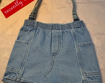 On Sale..Denim Jeans Purse with Cute Pockets