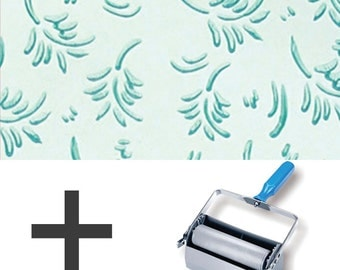 2-Colours Pattern Paint Roller STARTER PACK - Leaf Patterns