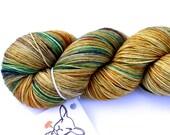 Hint of Autumn OOAK--hand dyed sock yarn, merino and nylon, (463yds/100gm)