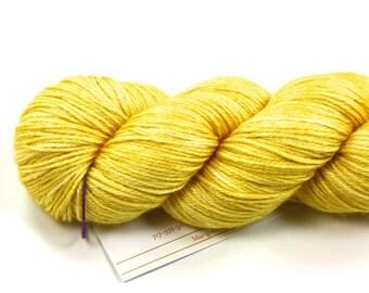 Sunbeam--hand dyed sock weight yarn, merino and silk, (437yds/100gm)