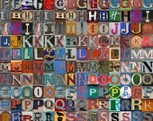 PRiNTABLE Alphabet Photography- 240 letters for instant download- PDF- JPG- DIY Letters- Square files- 240 large format files