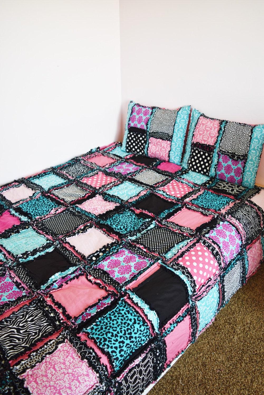 Zebra Bedding Paris Theme Bedroom Black Pink Turquoise