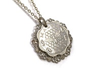 Malta coins necklace with bee and honeycomb