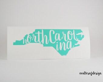 North Carolina Decal - NC Car Decal, NC Laptop Decal, NC Decal