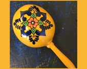 """Maracas (8 pieces)  2 magenta, 2 green, 2 blue, 2 yellow """"Nikki Noelle's First Fiesta"""" Personalized Maracas - hand painted with your names"""