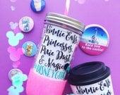 Disney Girl /// Glitter Mason Jar Tumbler // Glitter Tumbler // Glitter Glass