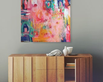 Large canvas art, abstract painting, large abstract painting, contemporary art, acrylic painting, large wall art, canvas painting 31 x 31 in