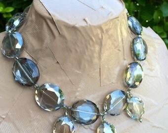 GEMMA crystal statement necklace