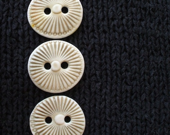Handmade Ceramic Button Set: Sage to Nearly Olive