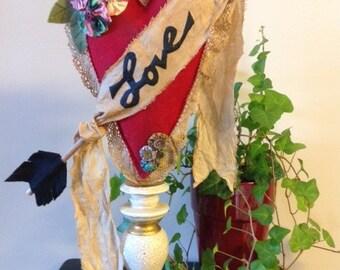 Mailed Sewing Pattern Decorative Vintage Valentine Heart